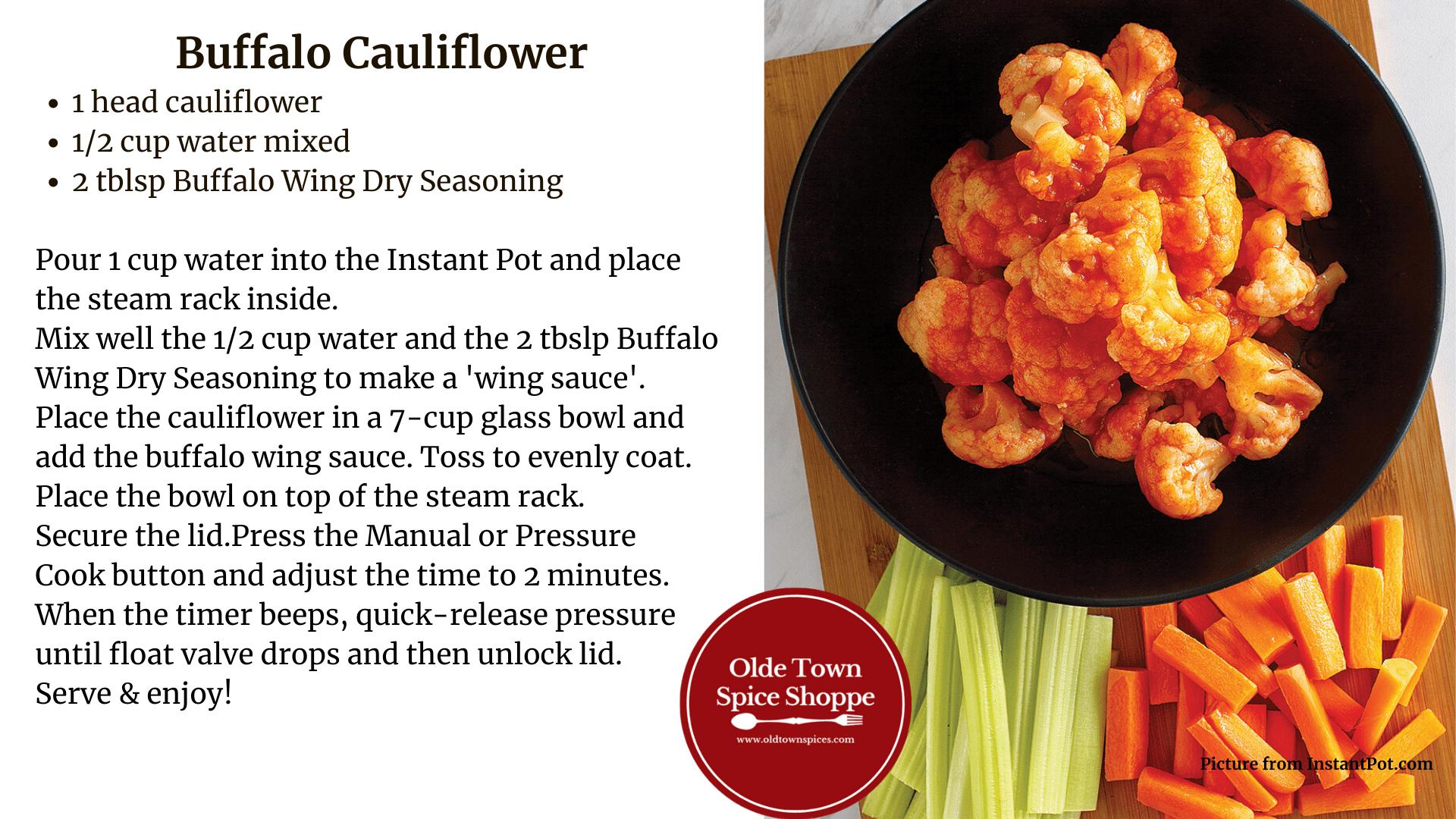 Instant Pot Buffalo Cauliflower
