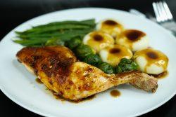 chicken dinner with gravy