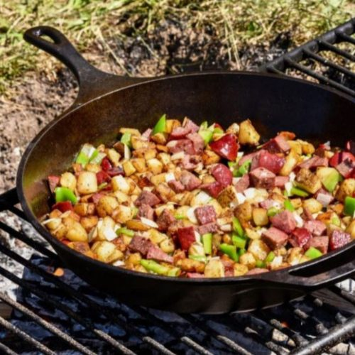 food and wine skillet hashbrowns